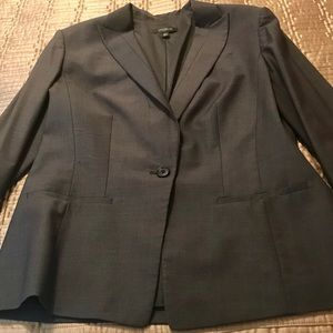 Charcoal gray Ann Taylor jacket size 12 T